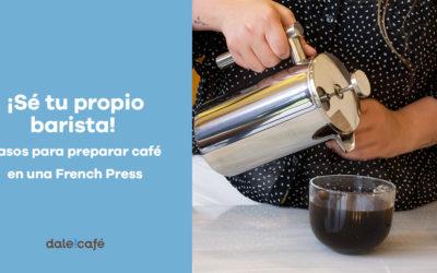¡Se tu propio barista!  Pasos para preparar café en una French Press