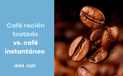 Café recién tostado vs. café instantáneo